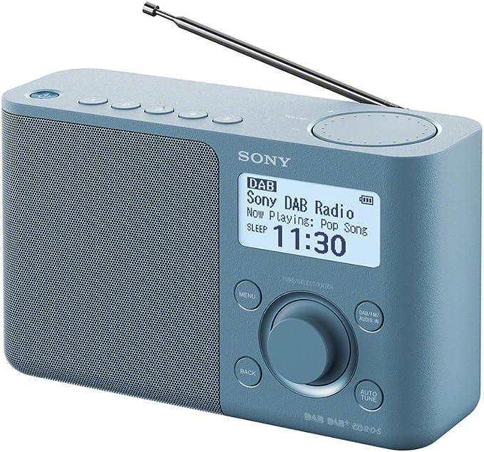 Sony XDR-S61D - Radio portátil (FM/Dab/Dab, 5 Botones presintonías Digitales y 5 analógicas, Pantalla LCD, Temporizador, Despertador) Color Azul