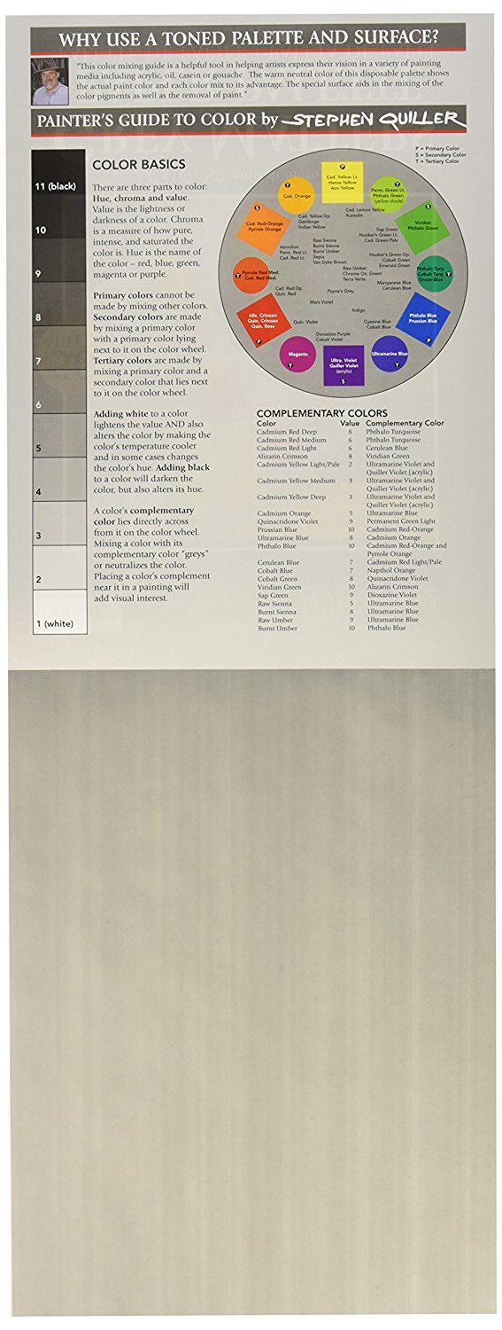 Jack Richeson Grey Matters Paper Palette 12 by 16-Inch 50 Sheets