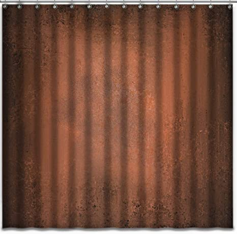 ashasds fabric shower curtain curtains with hooks hammered abstract bright orange brown with vintage grunge design warm autumn copper with black