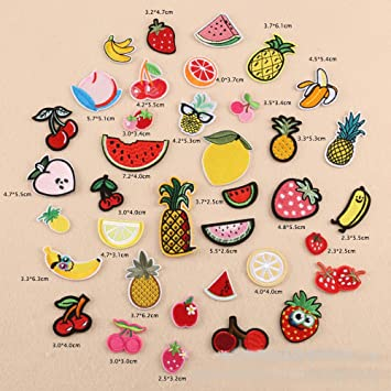 Patch écusson patche Fruits thermocollant broderie Creatieve hobby's