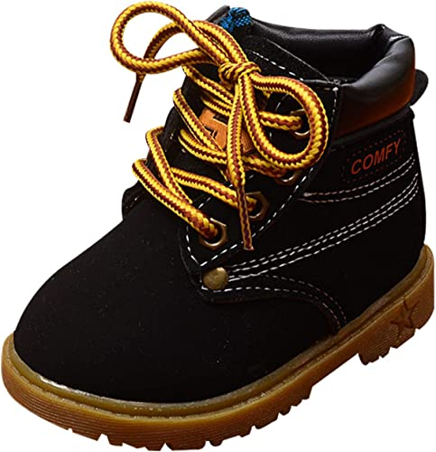 Children Kids Martin Boots Baby Shoes Toddler Boys Girls Faux Leather Boots Good