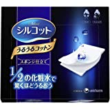 Unicharm 尤妮佳 Silcot省1/2化妆水化妆棉 40枚/盒 (日本品牌)