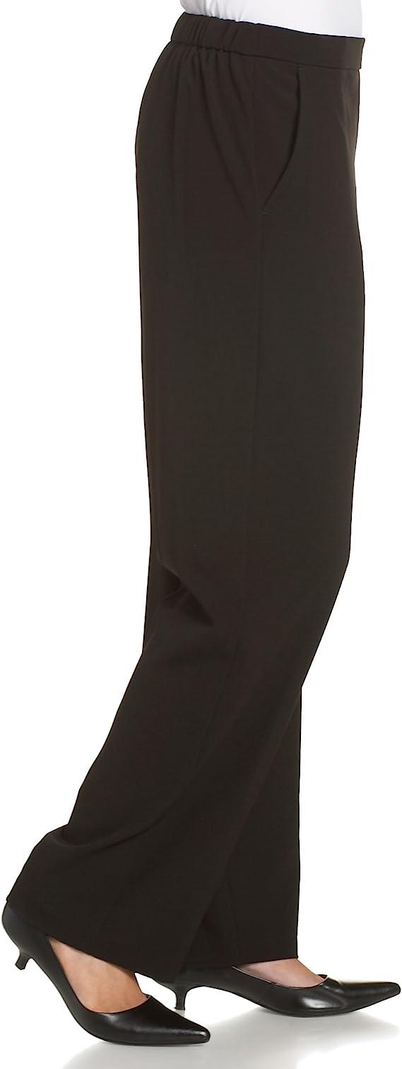 BRIGGS NY WOMAN NWT COMFORT WAIST STRETCH PULL ON DRESS SLACKS BK PIN STRP 18WS