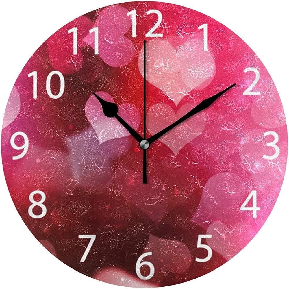 Horloge D/éCorative Color/éE Une Piles pour la Salle de Classe D/éCole de Chambre denfant de Chambre denfants Fltaheroo Horloge Murale Silencieuse denfants de Ticking