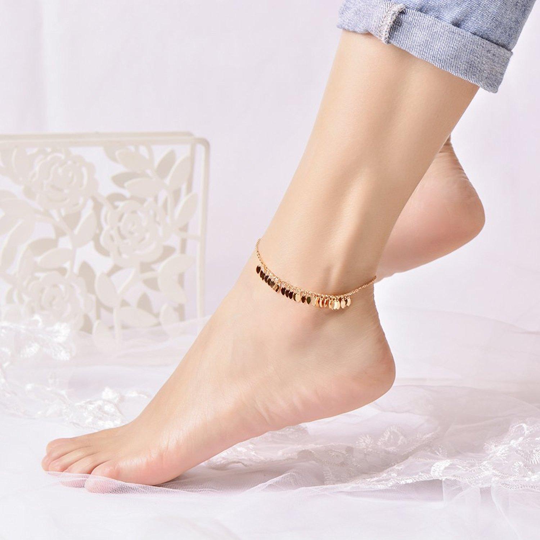 IUHAHarvest Sparkling Anklets For Women or Girls Prevent Allergies