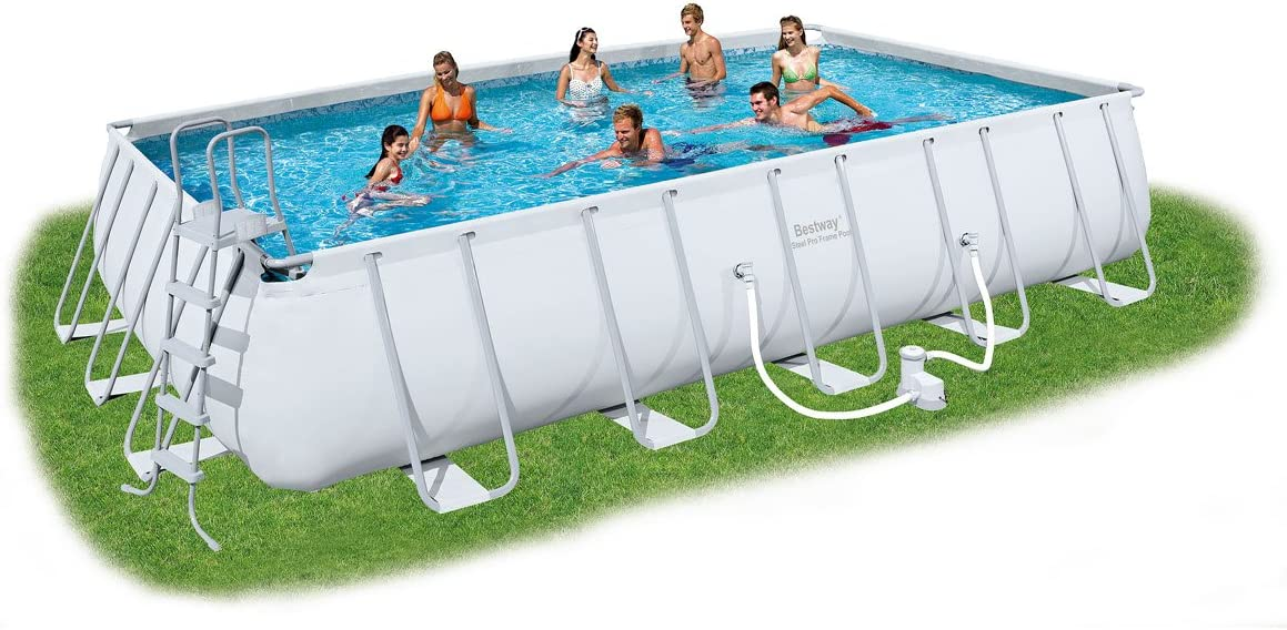 Bestway Rectangular Frame Set Piscina sobre Suelo, 22 Rectangular ...