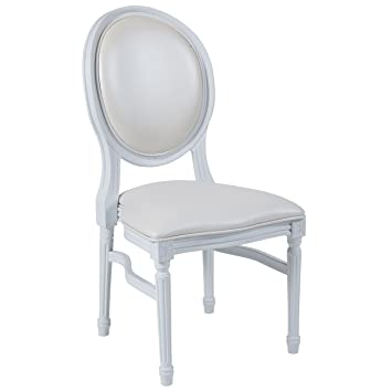 Genial Flash Furniture HERCULES Series 900 Lb. Capacity King Louis Chair With  White Vinyl Back And