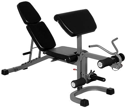 XMark FID soporte de inclinación disminución de banco de pesas con brazo Curl y desarrollador de
