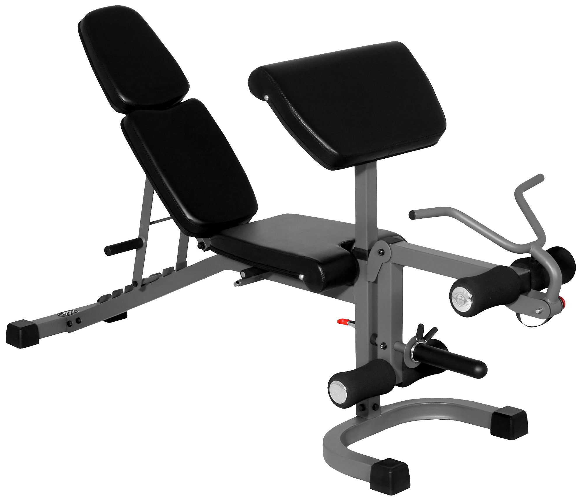 XMark FID Flat Incline Decline Weight Bench with Arm Curl and Leg Developer XM-4418 by XMark Fitness