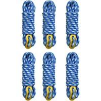 GEERTOP 6 Pack 5 mm Camping Guylines Lightweight Outdoor Survival Gear Tent Cord Rope with Aluminum Tensioner for Camp Tent Tarp, Canopy Shelter, Hiking, Backpacking