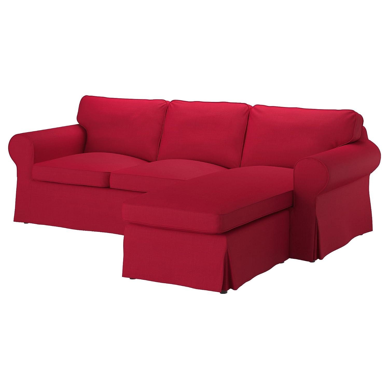 元IKEA Ektorpカバー用のソファwith Chaise、3-seat Sectional (カバーのみ – さまざまな色) Sectional 4-Seat Corner レッド  Nordvalla Red B079KB3X36