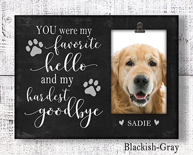 Amazoncom Dog Memorial Picture Frame Personalized Loss Of Pet