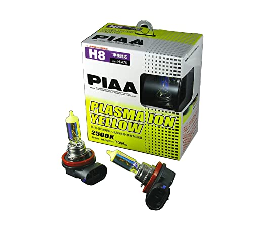 Amazon.com: PIAA 18535 H8 Ion Yellow Performance Bulb, (Pack of 2): Automotive