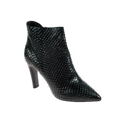 Elvio Zanon Damen Stiefelette Leder 40 mit Absatz, Schuhgröße 40 Leder 73f9bc