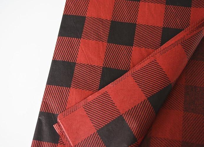 Amazoncom Red Buffalo Plaid Tissue Paper Kit Diy Tissue