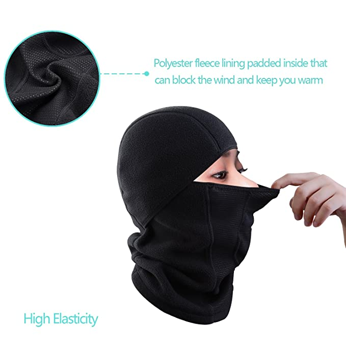 JMFONE Balaclava Ski Mask Windproof Full Face Mask and Neck Warmer Cold  Weather Winter Motorcycle Running ccef42f8c2