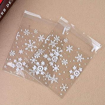100 bolsas de celofán autoadhesivas de plástico de 10 x 10 ...