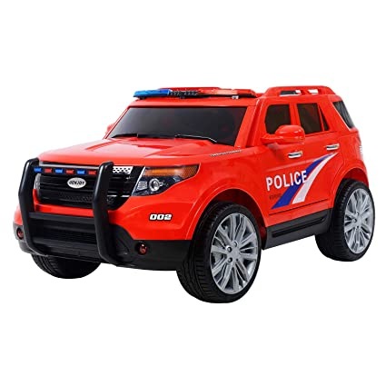 a2f9f4d76000 Image Unavailable. Image not available for. Color: Uenjoy 12V Kids Police  Ride on Car ...