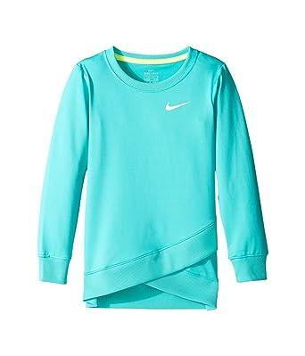 ed32338129 Nike Dry Sport Essentials Crossover Little Girl's Top (Hyper Jade) (3T  Toddler)