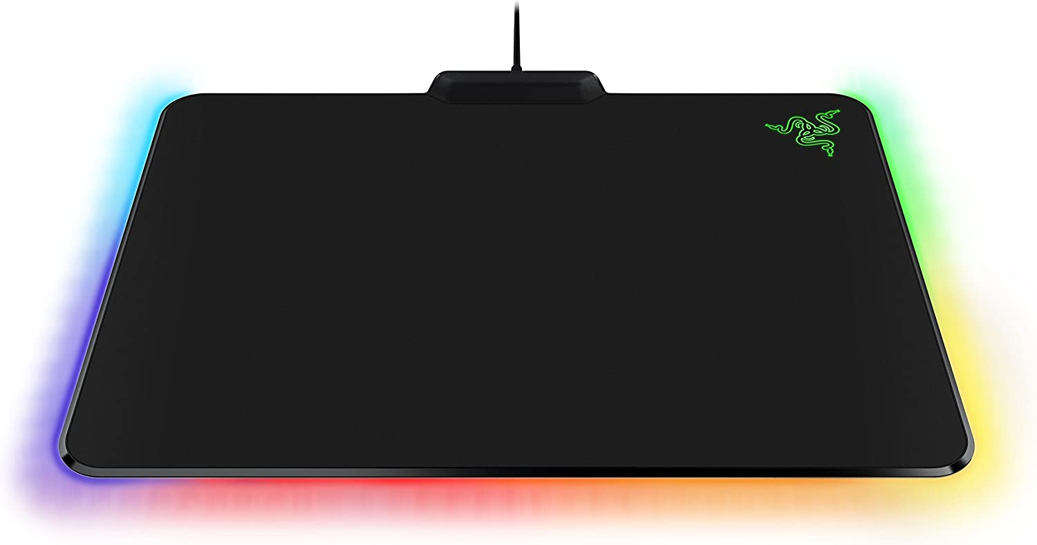 Razer Firefly Chroma Hard Gaming Mouse Pad: Customizable Chroma RGB Lighting 14x10 Non-Slip Rubber Base Ideal for Quicker Mouse Movements
