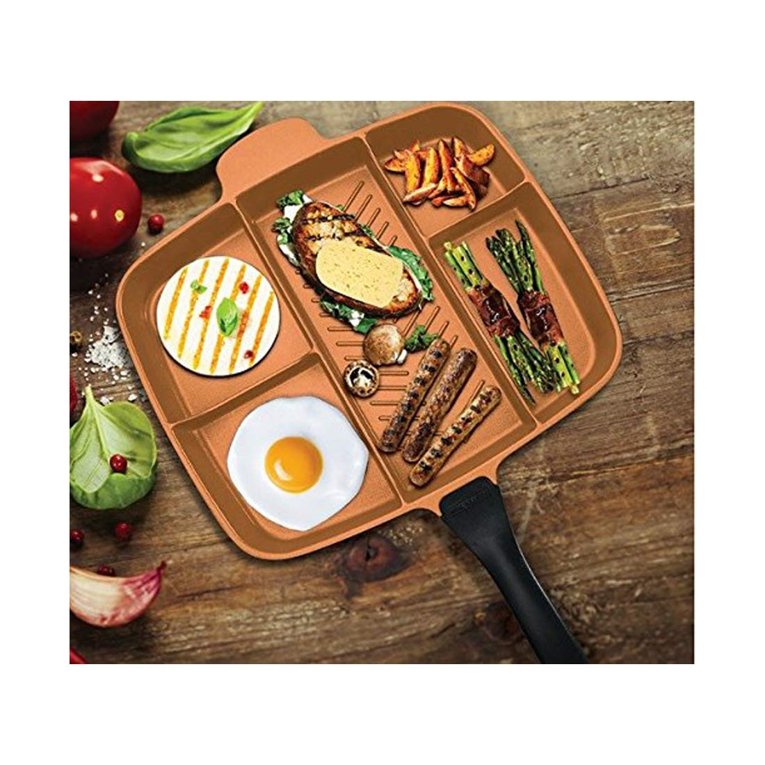 """Innovia Imports II-260 Divided Cookware Pan 15"""" Copper"""