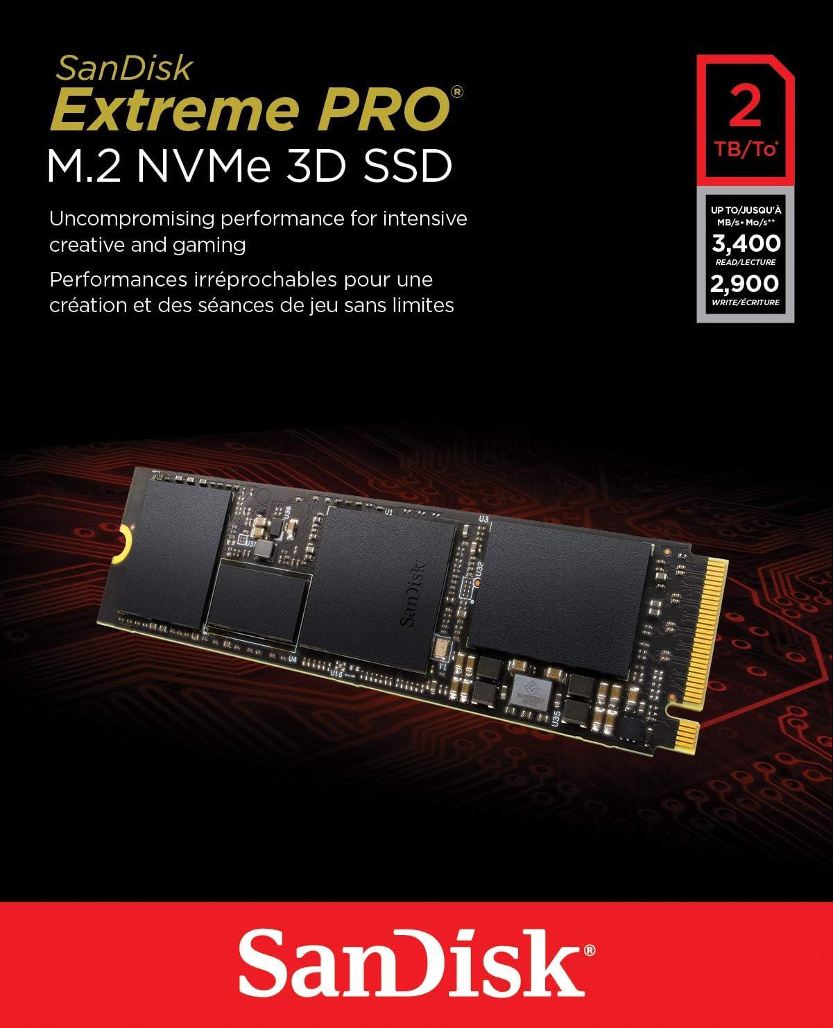 SanDisk Extreme Pro 2TB M.2 NVMe 3D SSD: Amazon.es: Informática