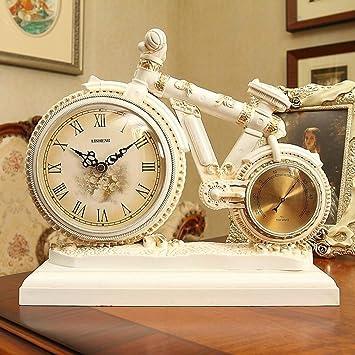 JU Mesa Reloj Salón Reloj Retro Estilo Europeo Reloj Decoración Reloj Decorativo Creativo Relojes de Bicicleta Adornos,BBB: Amazon.es: Deportes y aire libre
