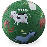 Crocodile Creek Barnyard Playground Ball, Green, 5'