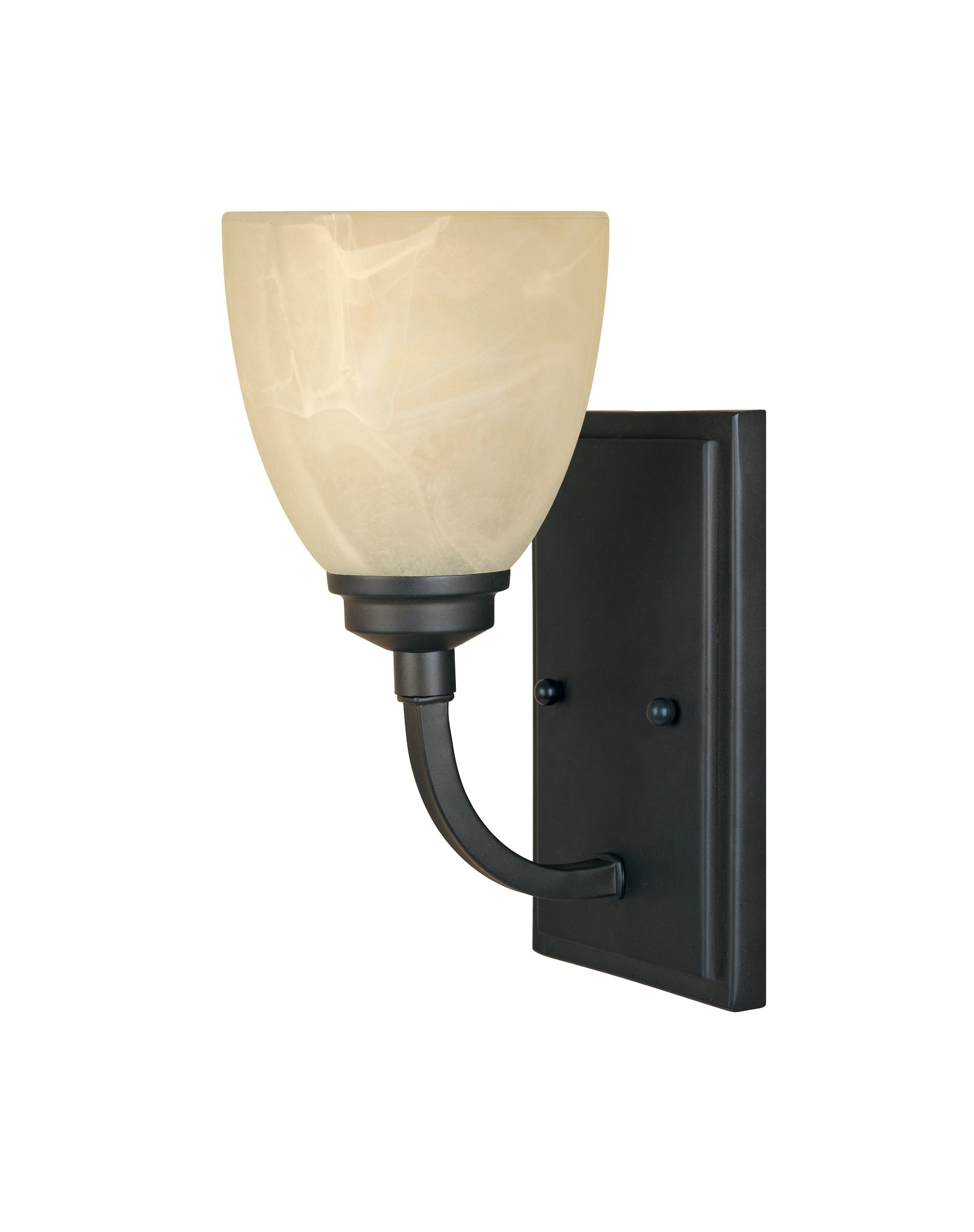 Designers Fountain 82901-BNB Tackwood Wall Sconce, Burnished Bronze