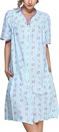 Camisón De Mujer Negliee Pijamas Camisa Dormir Especial Estilo para Lounging Flores Damas Op Lencería Suelta Noche De Manga Corta Camisa De Dormir Cálido Lencería De Pijama Ropa De Dormir: Amazon.es: Ropa