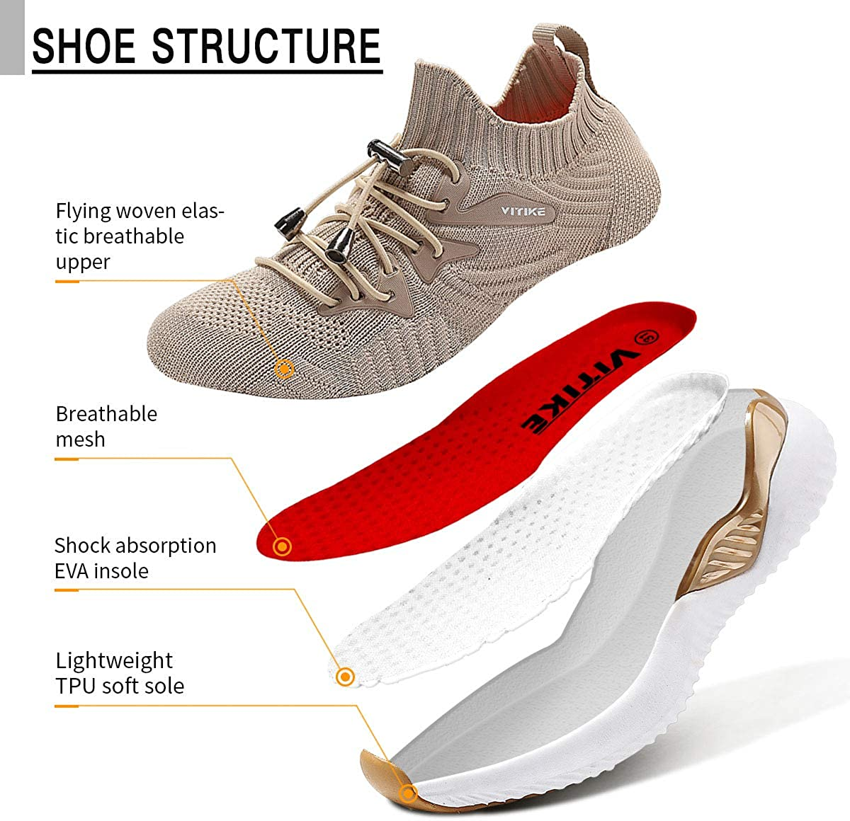 Garçon Fille Chaussures de Course Tennis Sneakers Femme Walking Shoes Baskets Mode Mixte Enfant Running Sneakers 11 Kaki