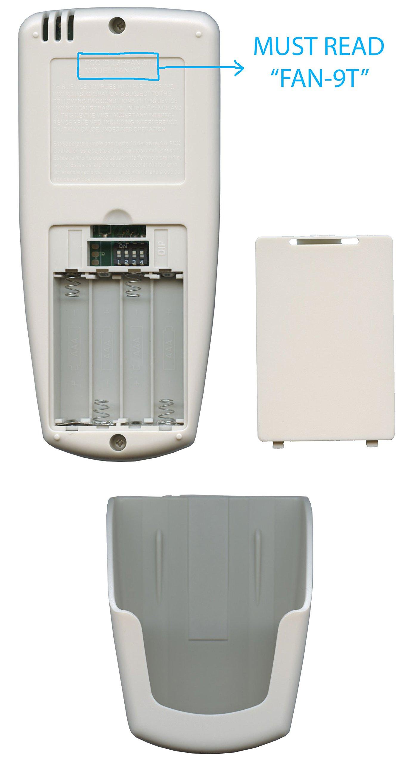 Anderic Replacement FAN-9T with FAN TIMER key Thermostatic Remote Control for Hampton Bay Ceiling Fans - FAN9T (FCC ID: L3HFAN9T, PN: FAN9T)