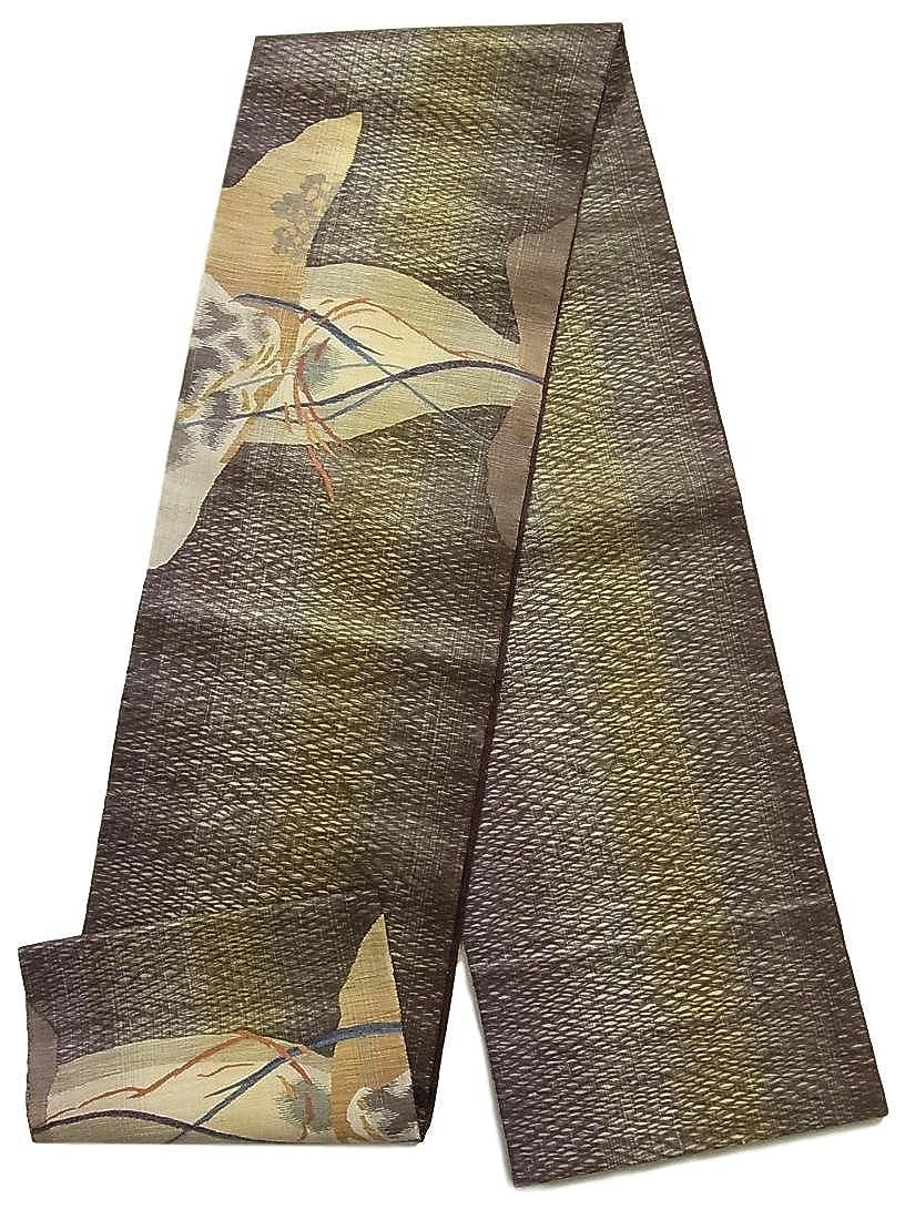 リサイクル 袋帯  櫛織 抽象模様 正絹 お太鼓柄 B07FDD628M
