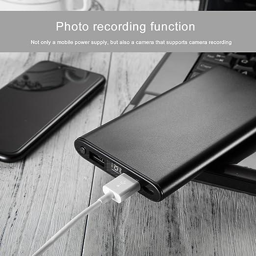 HD Mini DV Cámara Oculta WiFi Mobile Power 1080P Cámara Espía Cámara Visión Nocturna Cargador Portátil Power (Gold): Amazon.es: Bricolaje y herramientas