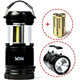 Amazon Price History for:Winner Outfitters 2 Pack/1 Pack Portable Outdoor COB Camping Lantern with LED Flashlight, Great Lights for Hiking, Emergencies, Outages, Collapsible(2 Pack-6 AA Batteries & 1 pack-3 AA Batteries)
