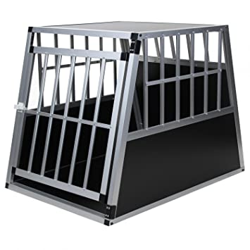Jalano Hundetransportbox Alu Größe XXL schwarz/Silber - Gitterbox ...