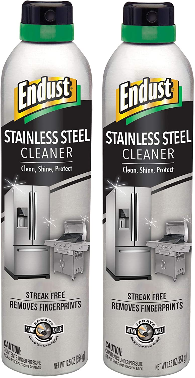 Endust Stainless Steel Cleaner, 2 Count