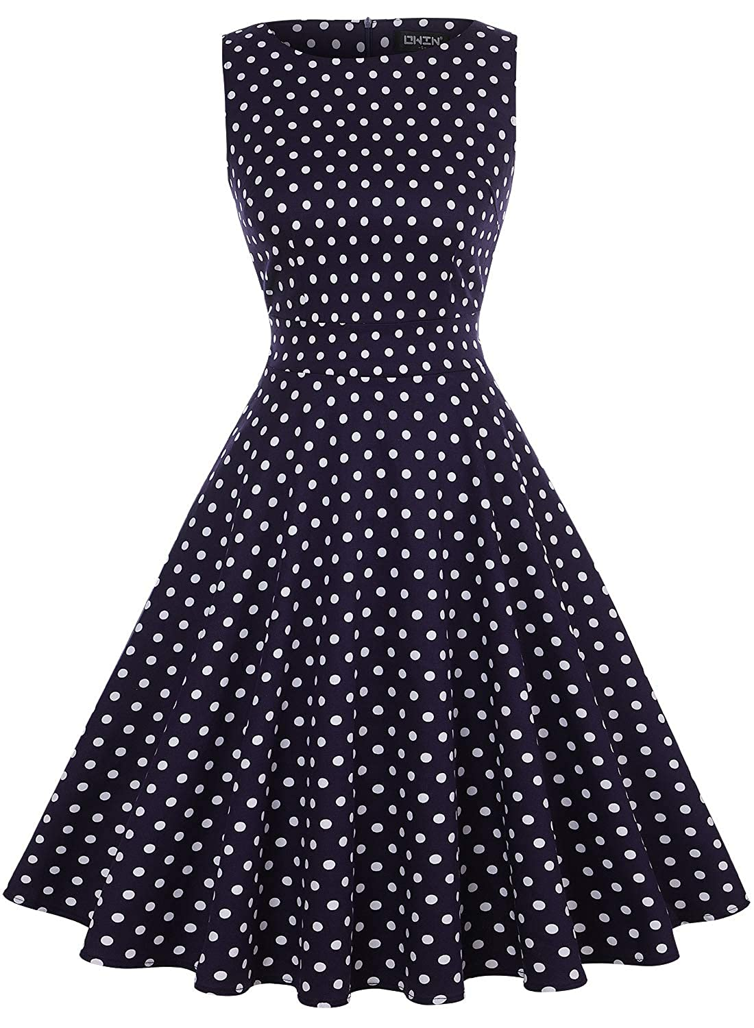 OWIN Womens Vintage 1950s Floral Spring Garden Rockabilly Swing Prom Party Cocktail Dress