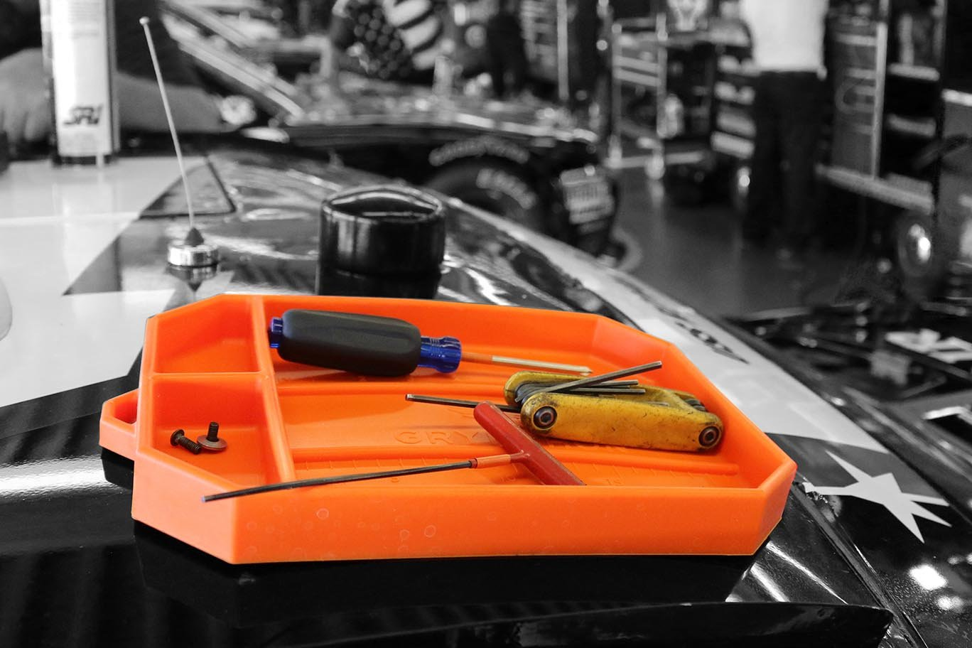 Grypmat | Non-Slip Flexible Orange Tool Tray | Tool Box Organizer | Socket Organizer | Tool Holder | Tool Mats | No Magnets | Easy Clean Up | As Seen On Shark Tank (Medium) by Grypshon (Image #4)