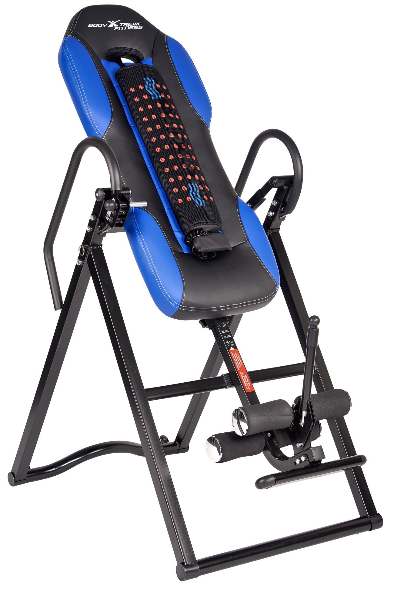 Body Xtreme Fitness ~ Inversion Table, Advanced Heat and Massage Therapeutic Inversion Table, Comfort Foam Backrest, Back Fitness Therapy Relief + BONUS Cooling Towel by Body Xtreme Fitness USA