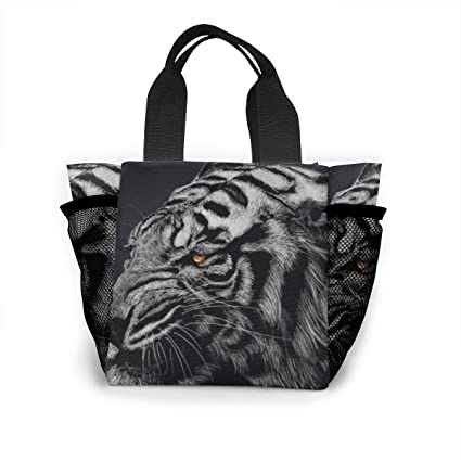 Amazoncom Architd Commission Black And White Striped Tiger