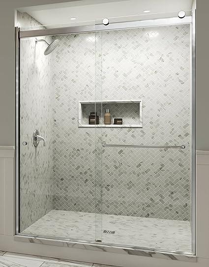 Basco Shower Door Rtla05a5976xpsv Rotolo 57 59 In Wide X 76 In High Aquaglidexp Clear Amazon Com