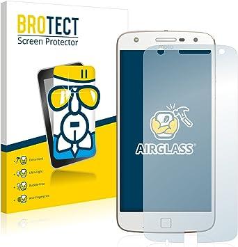 BROTECT Protector Pantalla Cristal Compatible con Motorola Moto Z Play Protector Pantalla Vidrio Dureza 9H AirGlass: Amazon.es: Electrónica