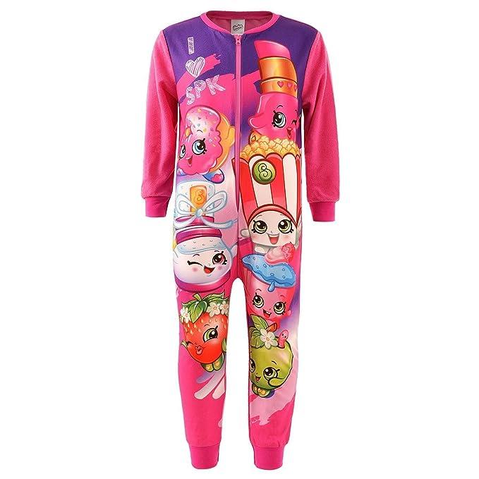 Shopkins - Pijama de una pieza - para niña rosa rosa 3-4 Años