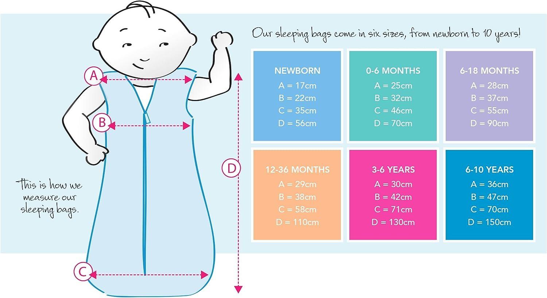 Nouveau Sac De Couchage Sac De Couchage 3.5 TOG hiver chaud 0-6 MTH /& 6-18 MTH /& 18-36 mth