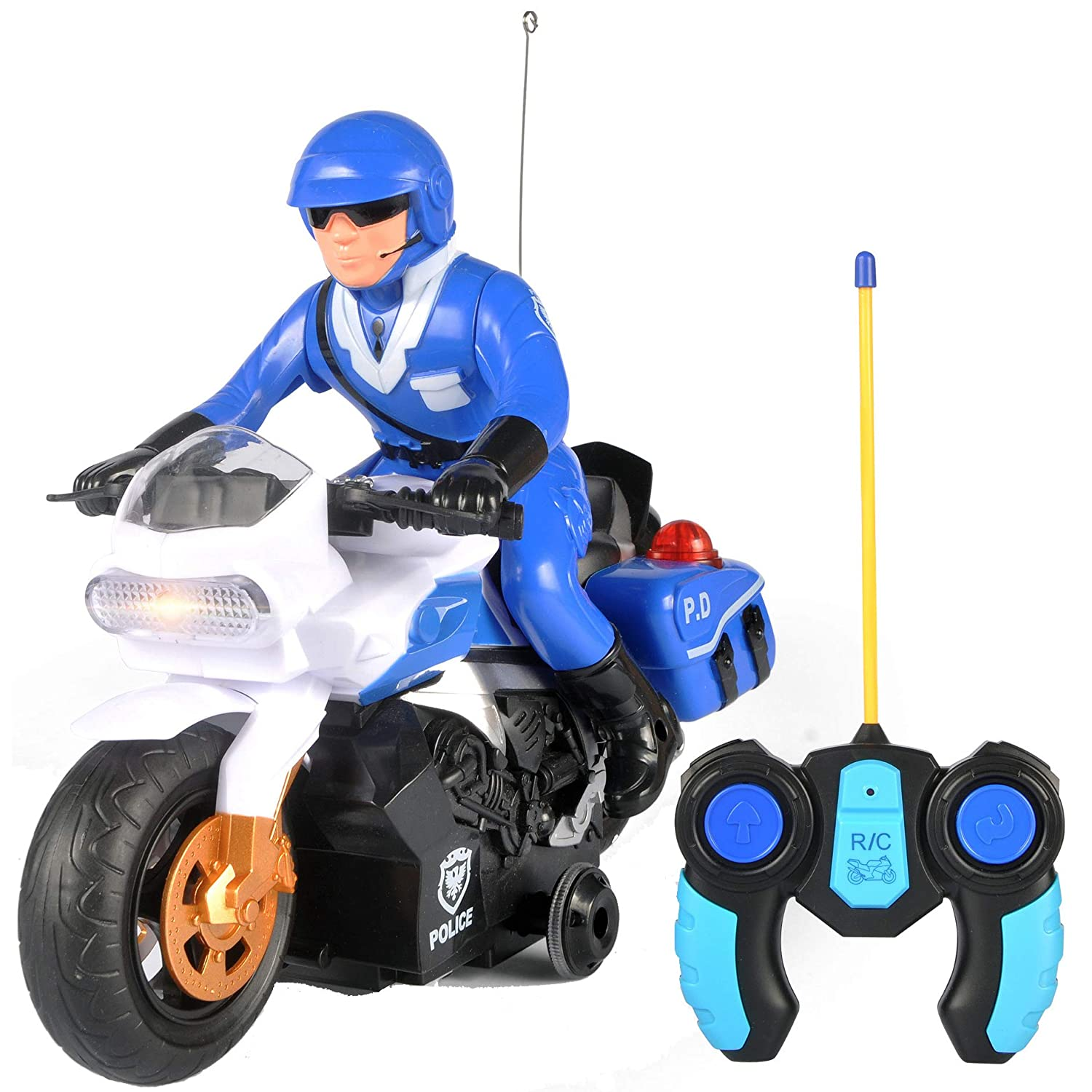 Liberty Imports RC Police Patrol Motorcycle