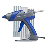 Chandler Tool Hot Glue Gun - 60 Watt Full Size Heavy Duty High Temp Industrial Hot Melt Glue Gun Kit with 10 Pcs Glue Sticks, Patented Base Stand &, for Arts & Crafts & DIY (Blue)