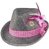 Bayernhut Moni Trachtenhut Oktoberfest Dirndl Hut Wiesn (Pink)