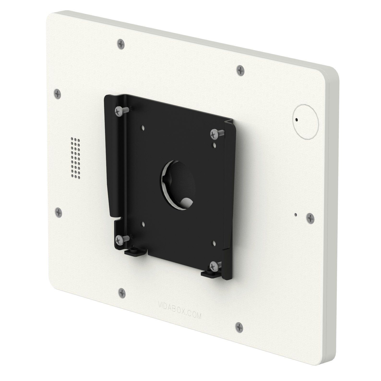 iPad (5th Gen) 9.7/Pro, Air 1/2 White Home Button Covered Fixed Slim VESA Wall Mount [Bundle] by VidaBox Kiosks (Image #6)