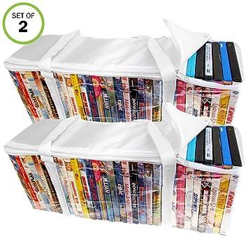 Evelots juego de 2 DVD/Blu-ray de almacenamiento bolsas ...